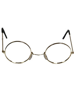 Glasses (Santa / Granny - Gold Frame Without Glass)