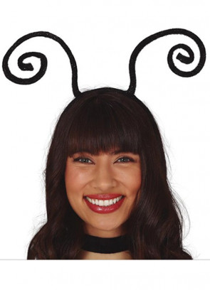 Black Glitter Antennae Headband