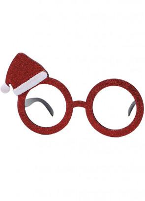 Glitter Santa Hat Glasses