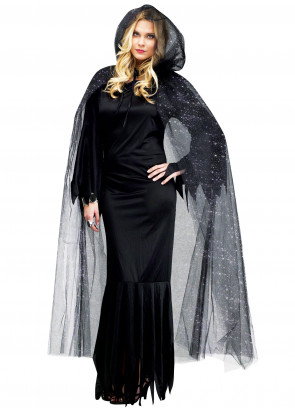 Glitter Cloak (Hooded Cape)