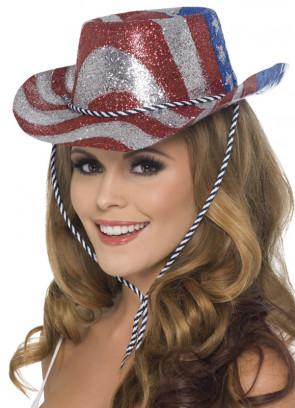 USA Glitter Cowboy Hat