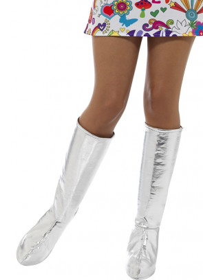 Go Go Boot Covers - Silver