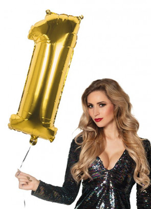 Gold Foil Balloon Number 1 – Helium or Air-fill – 86cm