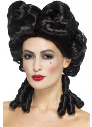 Black Gothic Baroque Wig