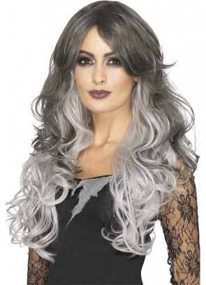 Grey Gothic Bride Wig – Styleable