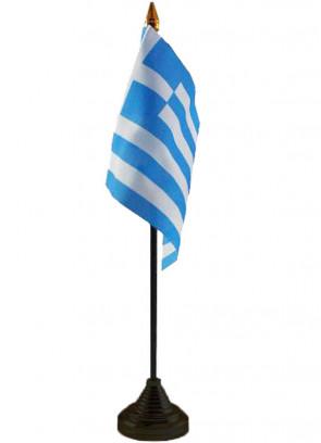 """Greece Table Flag 6"""" x 4"""""""