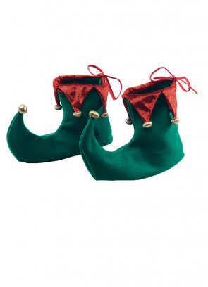 Elf Shoes Covers - Green and Red