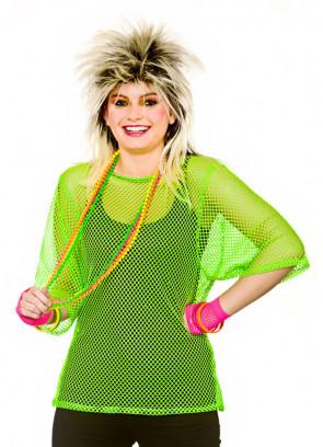 80s Mesh Top - Neon Green