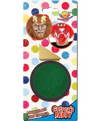 Dark Green Face Paint 9ml & Sponge