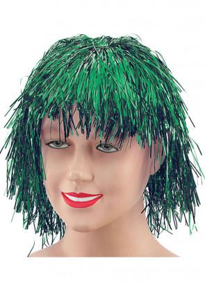 Green Tinsel Wig