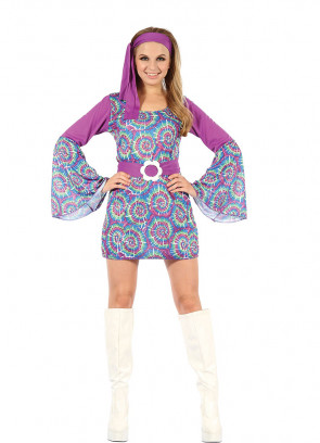 Groovy Psychedelic Hippy Dress