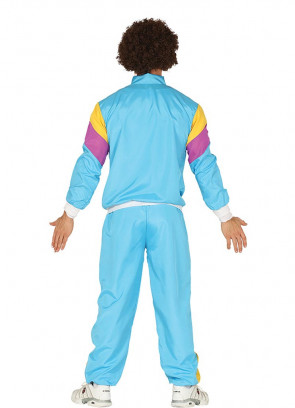 80s Mens Blue Shell-Suit