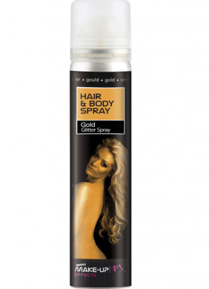 Hair and Body Spray (Gold Glitter)