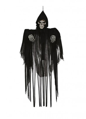 Hanging Grim Reaper with Flashing Eyes, Movement and Sound 128cm
