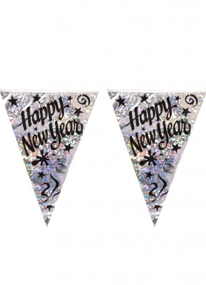 Happy New Year Bunting (3.5m / 11 Flags)