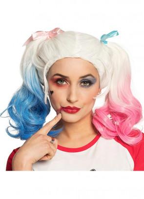 Harley Q kids Wig – Pink/Blue/White