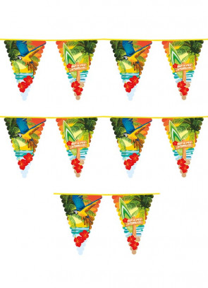 Hawaiian Beach - Large Triangular Plastic Bunting 6m