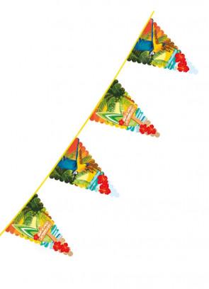 Large Hawaiian Beach Triangular Plastic Bunting 6m