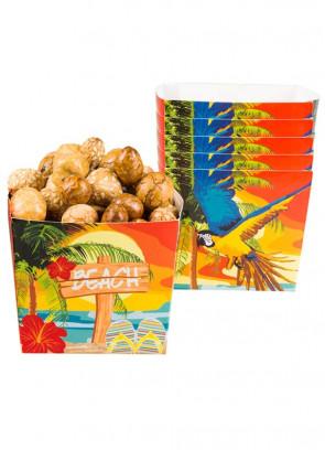 Hawaiian Beach Small Paper Bowls 40cl – 6pk
