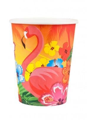 Hawaiian Flamingo Paper Cups 25cl – 6pk