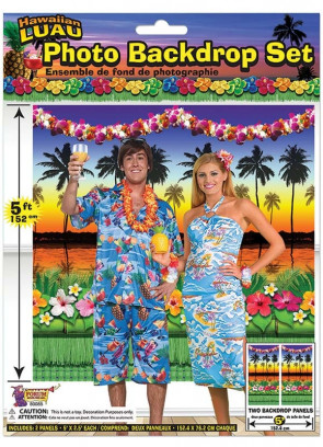 Hawaiian Luau Photo Scene Setter Back Drop 5ft x 5ft