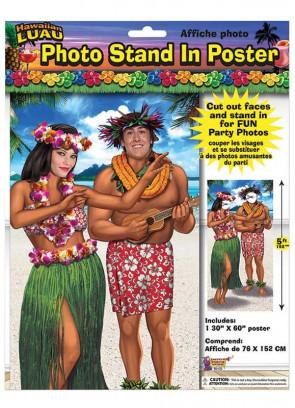 Hawaiian Luau Stand in Photo Poster 76cm x 152cm