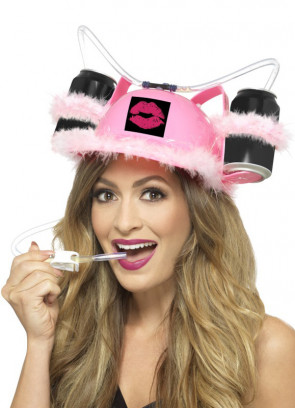 Pink & Fluffy Drinking Hat - Add Your Favorite Drink