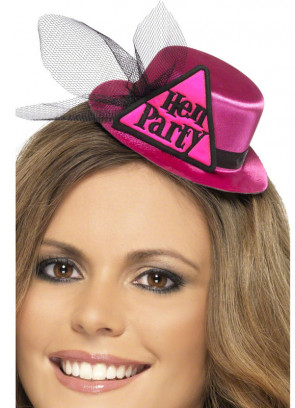 Hen Party Mini Top Hat - Pink