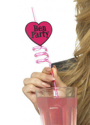 Hen Party Spiral Straws - 6 pack
