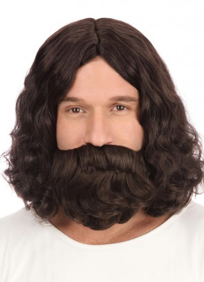Jesus - Brown Wig & Beard Set