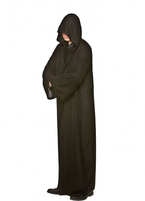 Adults Black Hooded Robe - Magical-Lord