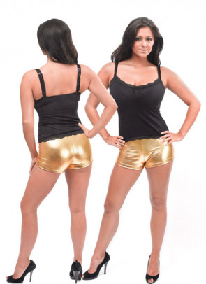 Gold Hot Pants - Kylie