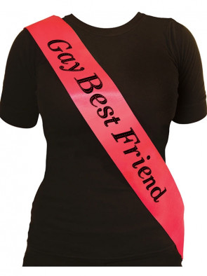 Gay Best Friend Sash - Hot Pink