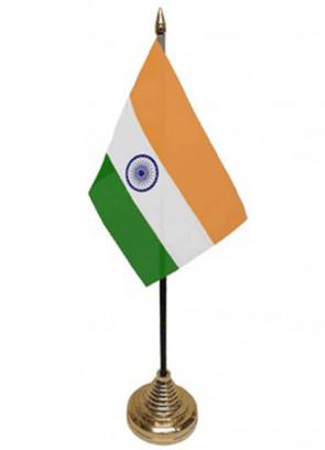 """India Table Flag 6"""" x 4"""""""