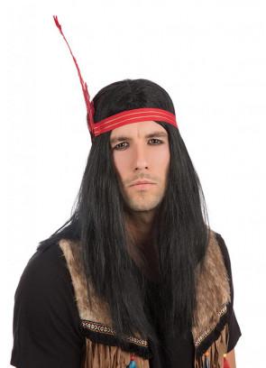 Indian Brave Wig - Black
