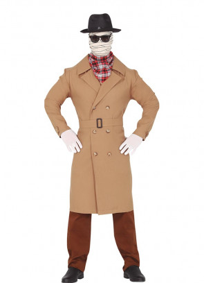 Invisible Man Costume - Brown Gangster Hat Included