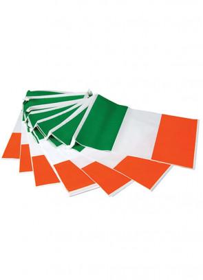 "Ireland Flag Bunting – Plastic Bunting 23ft Long – Flag Size 8"" x 12"""