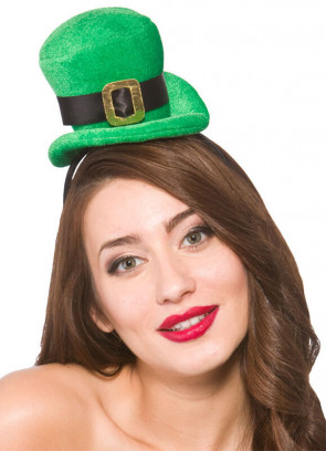 Mini Irish Top Hat on Headband