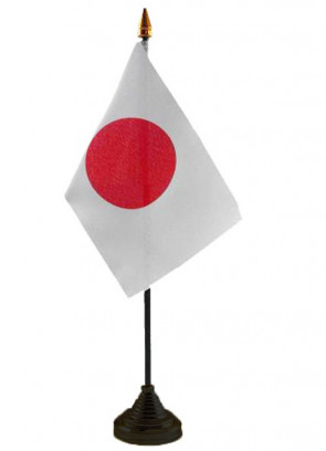 """Japan Table Flag 6"""" x 4"""""""