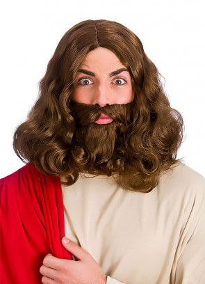 Jesus / Hippie - Brown Wig and Beard