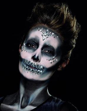 Silver Jewel Face Gems - Sugar Skull