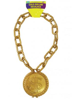 Jumbo Gold Dollar Medallion on Chunky Chain