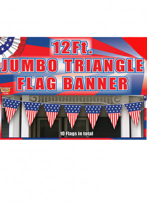Jumbo USA Triangle Bunting (12ft Long)