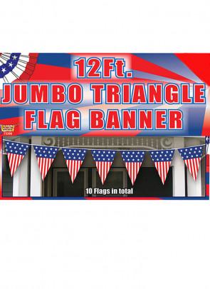 USA Jumbo Triangle Bunting - 12ft long