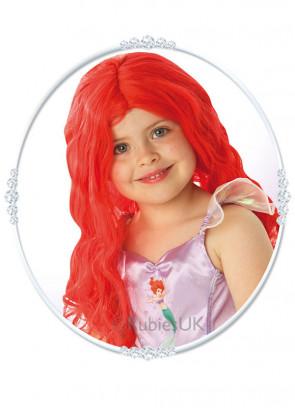 Red Ariel Wig - Kids