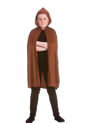 Fellowship Brown Hooded Cape (Kids)