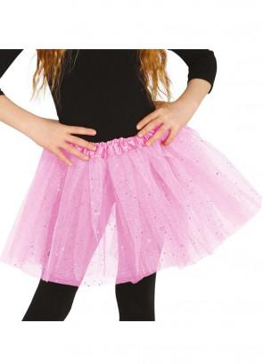 "Kids Candyfloss Pink Glitter Tutu - Age 3-8 - Waist 16""-28"""