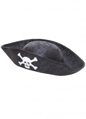 Kids Black Pirate Hat