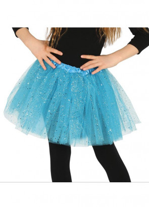 Kids Turquoise Blue Glitter Tutu