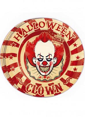 Halloween Killer Klown Paper Plates 23cm – 8pk